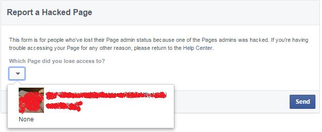 إسترجاع صفحة الفيس بوك