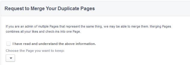 دمج صفحات الفيس بوك