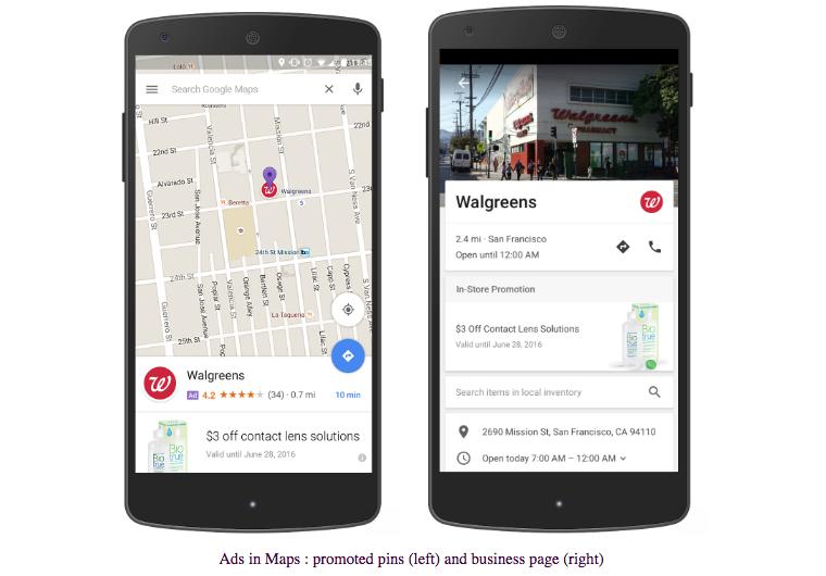 إعلانات خرائط جوجل