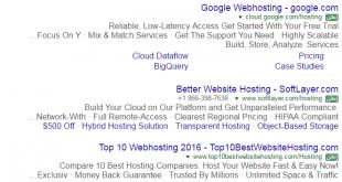 ملصق إعلانات جوجل باللون الأخضر