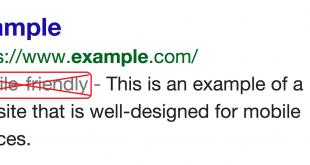 جوجل يتخلص من جملة Mobile Friendly