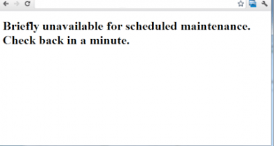 Briefly unavailable for scheduled maintenance حل