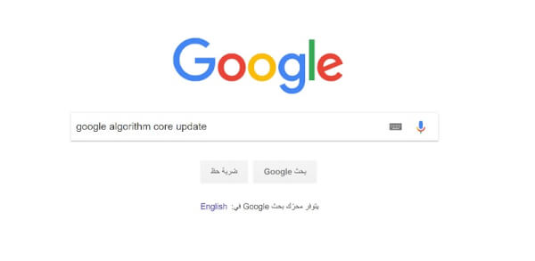 google algorithm core update