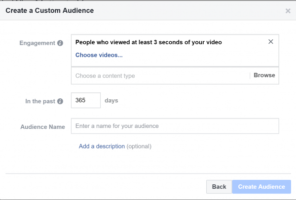 اختيار فيديو لاستهداف مشاهديه في إعلانات الفيس بوك