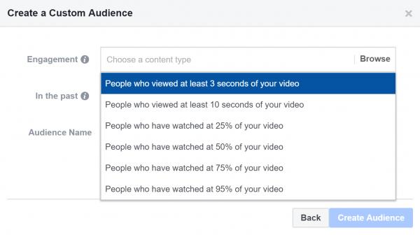 استهداف مشاهدي فيديو معين في إعلانات فيس بوك