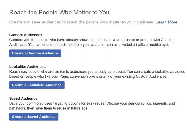 الجمهور المخصص في إعلانات فيس بوك