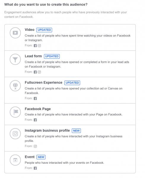 جمهور مخصص فيديو في إعلانات فيس بوك