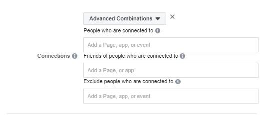 الاستهداف في الفيس بوك حسب العلاقات Connections