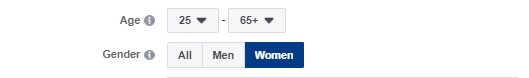 تحديد العمر في إعلانات فيس بوك