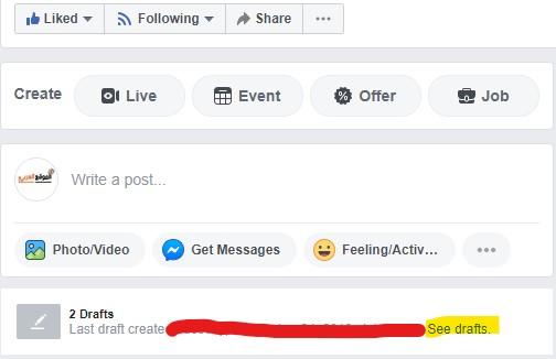 مشكلة في جدولة منشورات الفيس بوك