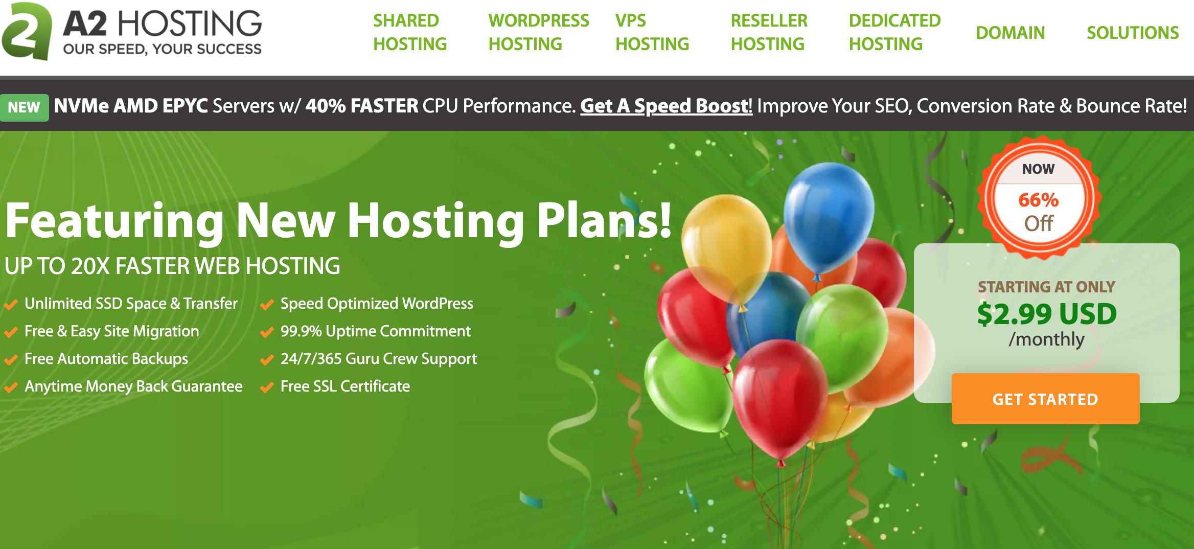 شركات استضافة a2hosting إيه تو هوستينج